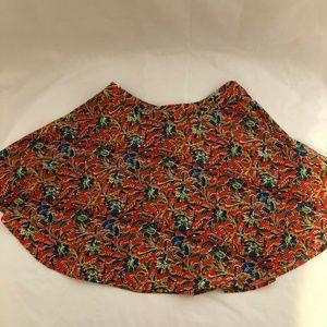 Lush Women Mini Flare Skirt Back Zipper Multicolor